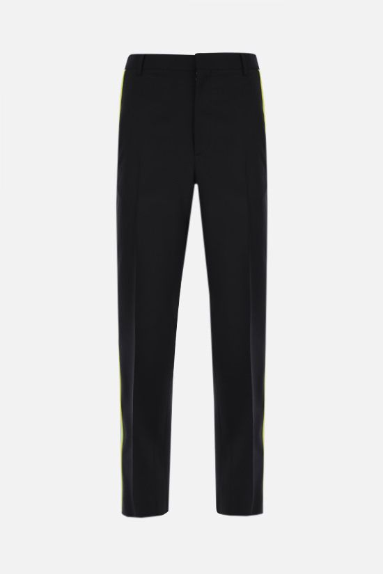 VALENTINO: wool mohair blend pants with contrasting bands Color Multicolor_1