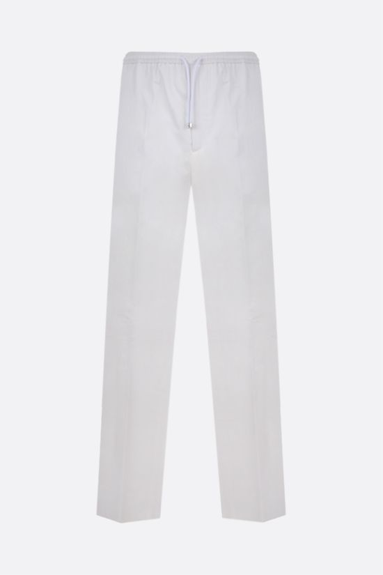 VALENTINO: loose-fit light cotton pants Color White_1