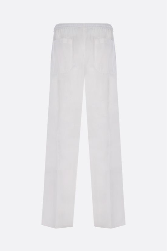 VALENTINO: loose-fit light cotton pants Color White_2
