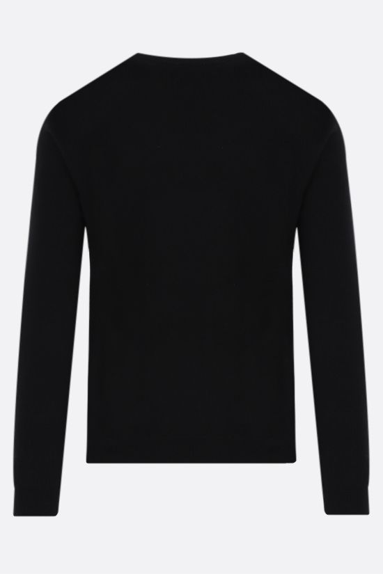 VALENTINO: VLTN Multicolor cashmere wool blend pullover Color Black_2