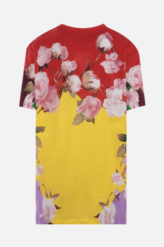 VALENTINO: Flying Flowers print oversize cotton t-shirt Color Multicolor_2