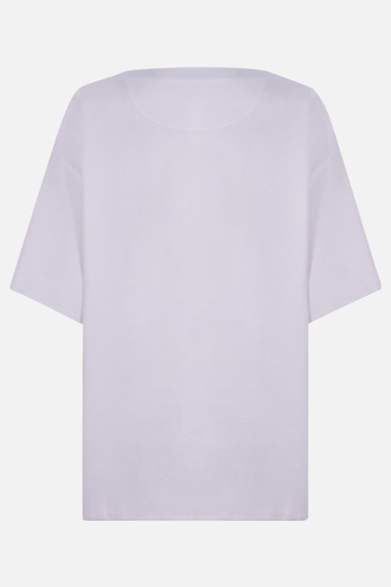 VALENTINO: V Gold oversize cotton t-shirt Color White_2