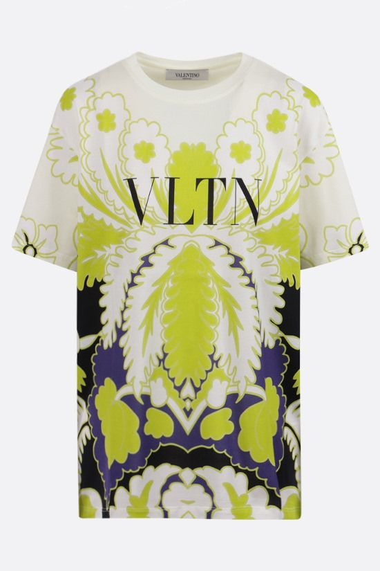 VALENTINO: World Arazzo and VLTN print oversize cotton t-shirt Color Multicolor_1