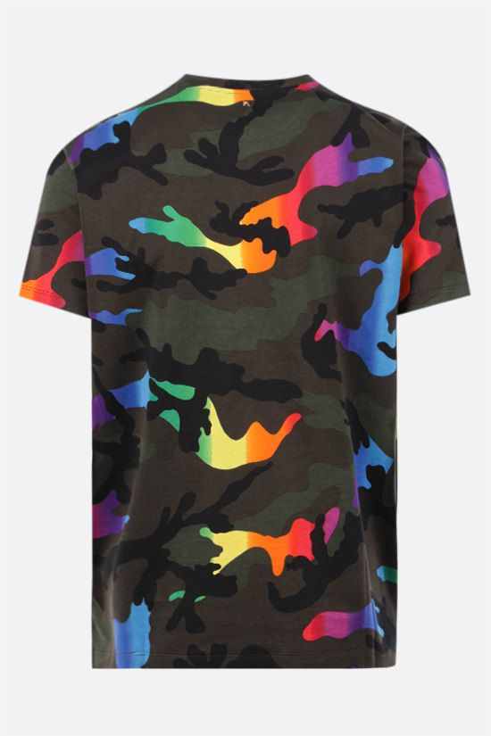 VALENTINO: Multicolor Camouflage print cotton t-shirt Color Multicolor_2