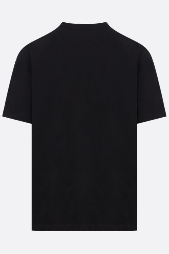 VALENTINO: VLTN print cotton t-shirt Color Black_2