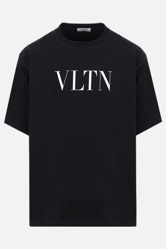 VALENTINO: VLTN print cotton t-shirt Color Black_1
