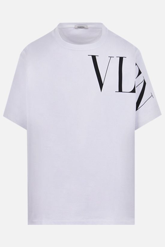 VALENTINO: VLTN print cotton t-shirt Color Grey_1
