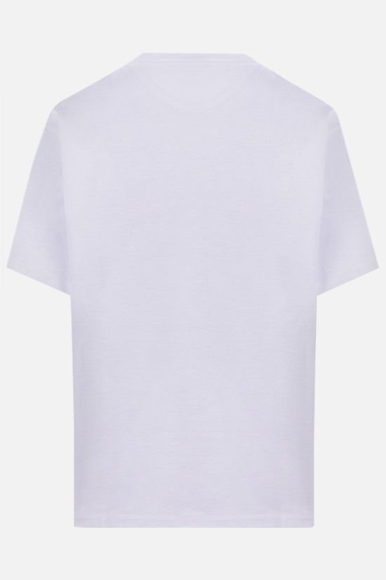 VALENTINO: VLTN print cotton t-shirt Color Grey_2