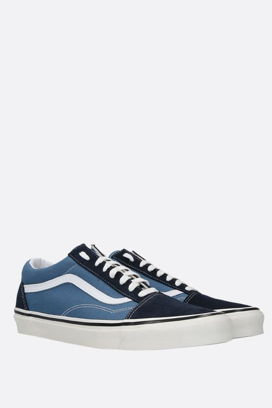 VANS: Old Skool 36 canvas and suede sneakers Color Blue_2