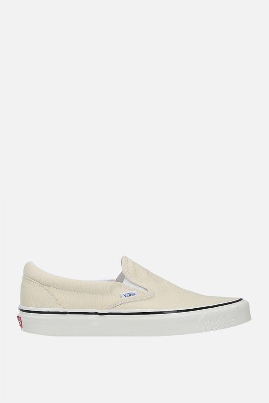 VANS: Classic canvas slip-on sneakers Color White_1