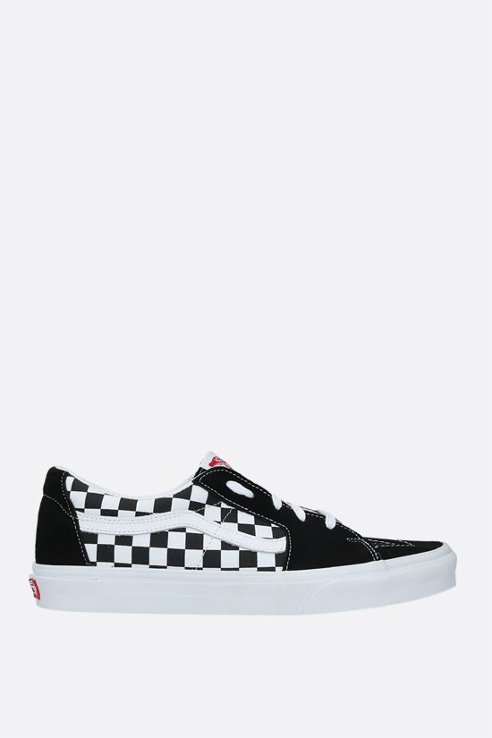 VANS: Sk8-Low canvas and suede sneakers Color Black_1