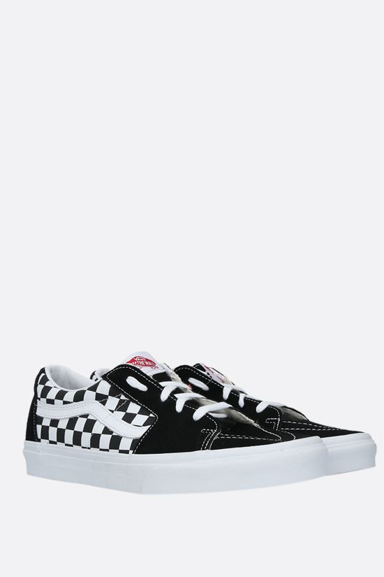 VANS: Sk8-Low canvas and suede sneakers Color Black_2