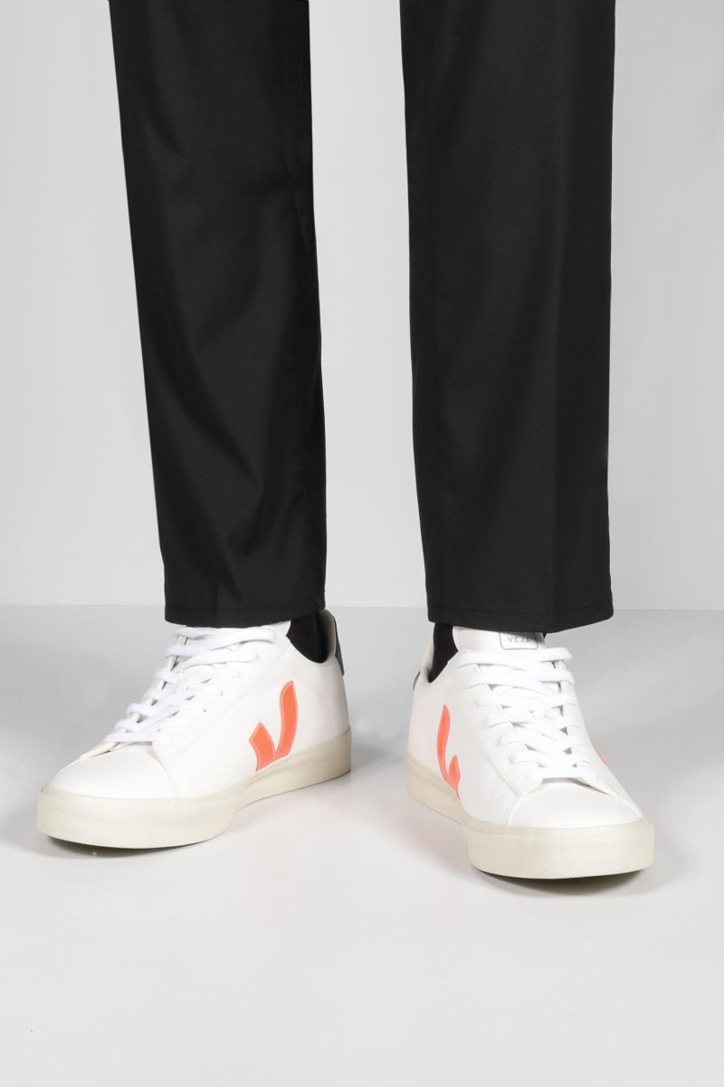 VEJA: Campo grainy leather sneakers Color Multicolor_2