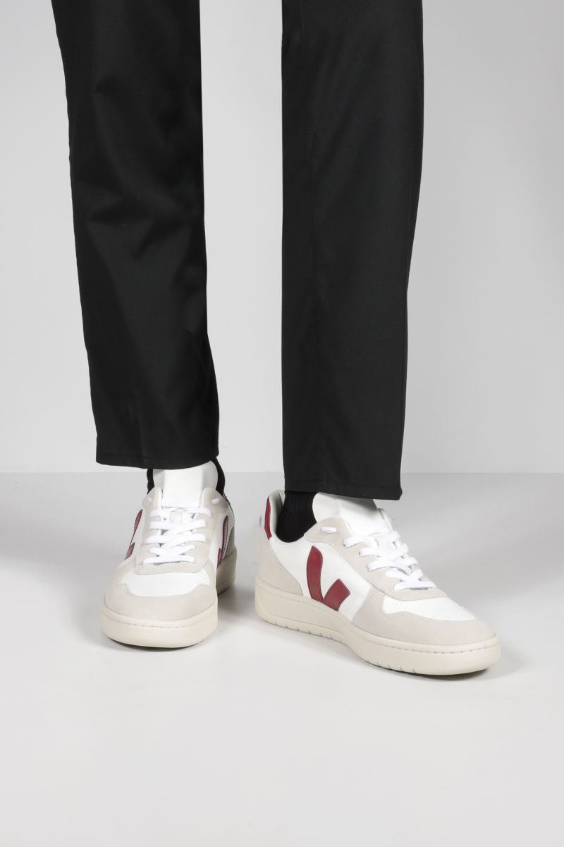 VEJA: V-10 mesh and suede sneakers Color Multicolor_2