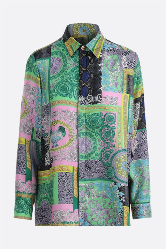 VERSACE: Barocco Patchwork print silk shirt Color Multicolor_1