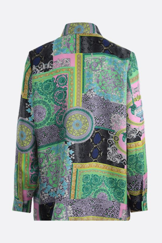 VERSACE: Barocco Patchwork print silk shirt Color Multicolor_2