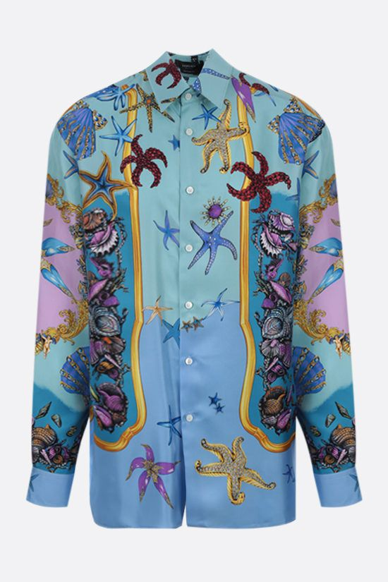 VERSACE: Trèsor de la Mer silk shirt Color Blue_1