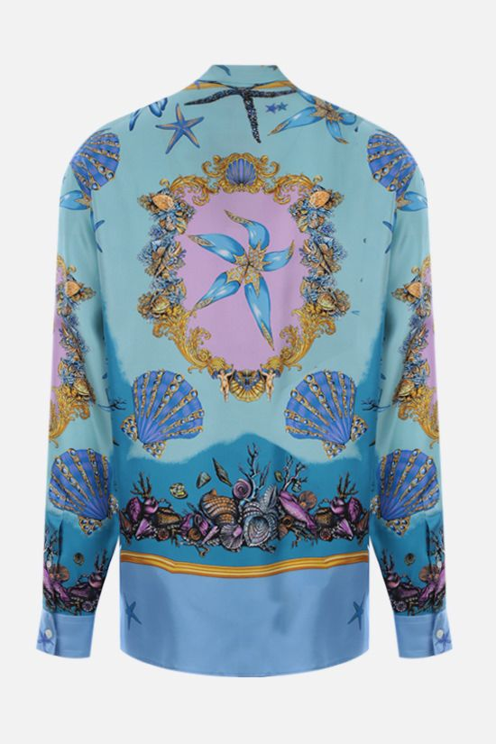 VERSACE: Trèsor de la Mer silk shirt Color Blue_2