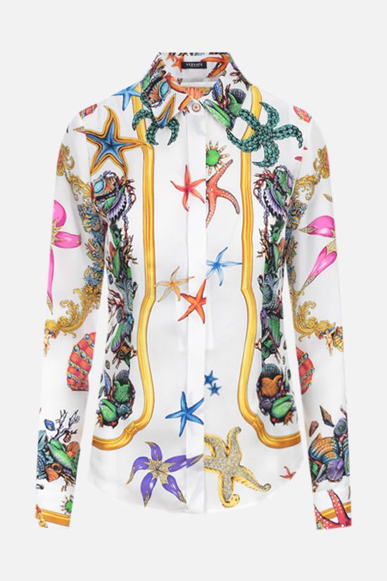 VERSACE: Trèsor de la Mer print satin shirt Color Multicolor_1