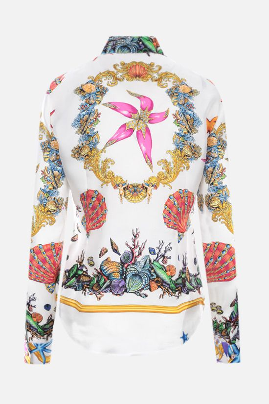 VERSACE: Trèsor de la Mer print satin shirt Color Multicolor_2