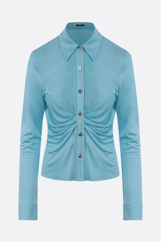 VERSACE: gathered jersey shirt Color Multicolor_1