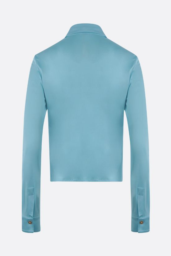 VERSACE: gathered jersey shirt Color Multicolor_2
