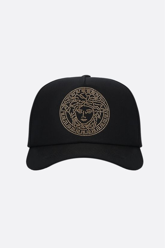 VERSACE: Medusa cotton baseball cap Color Black_1