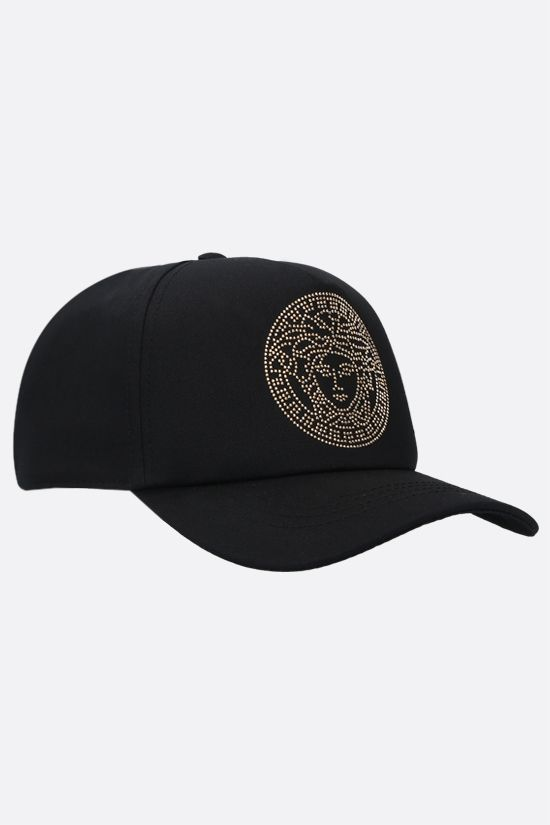 VERSACE: Medusa cotton baseball cap Color Black_2