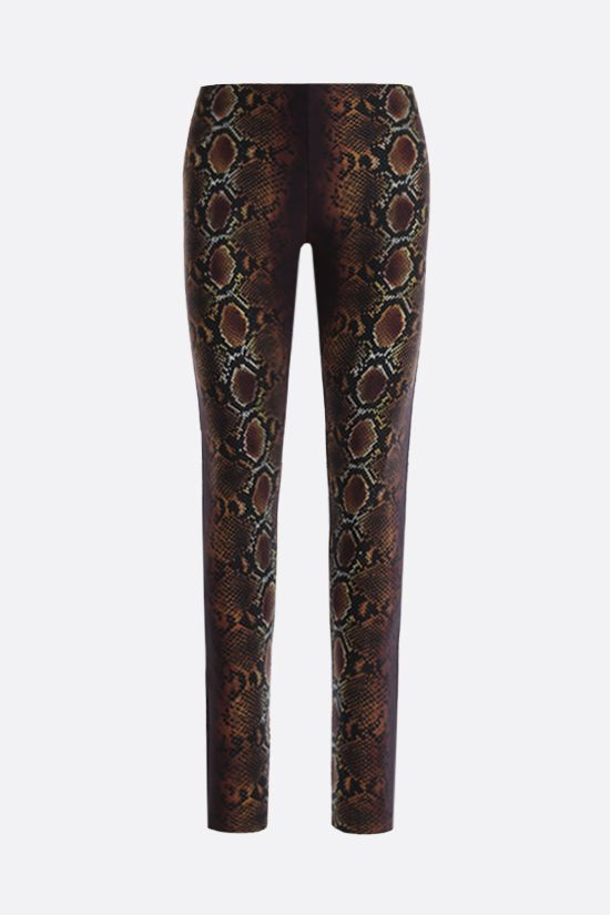 VERSACE: Python print leggings Color Neutral_1