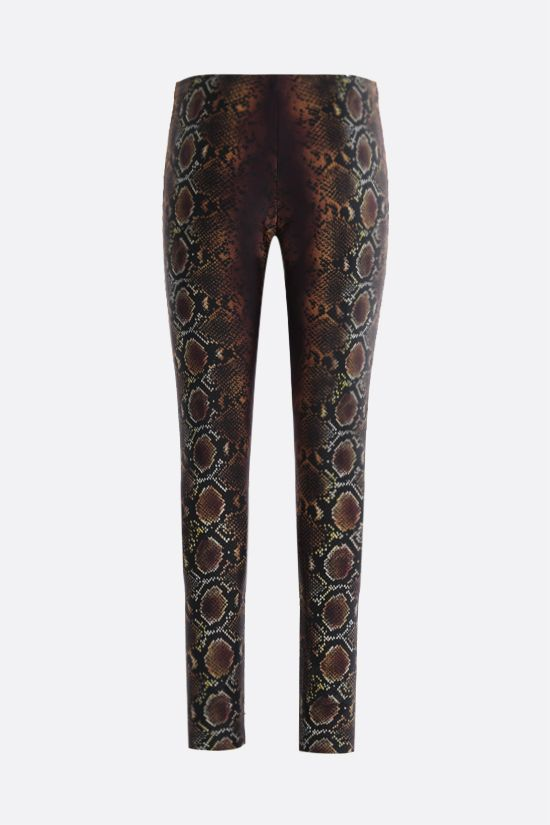 VERSACE: Python print leggings Color Neutral_2