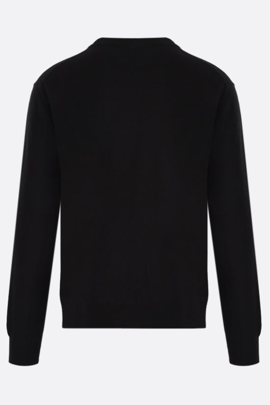 VERSACE: Medusa wool blend pullover Color Black_2