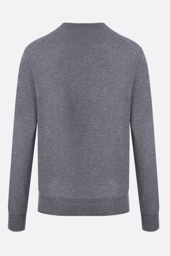 VERSACE: Medusa wool blend pullover Color Grey_2