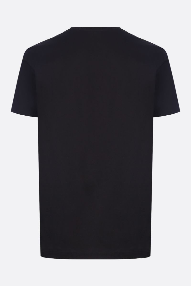 VERSACE: Medusa logo cotton t-shirt Color Black_2