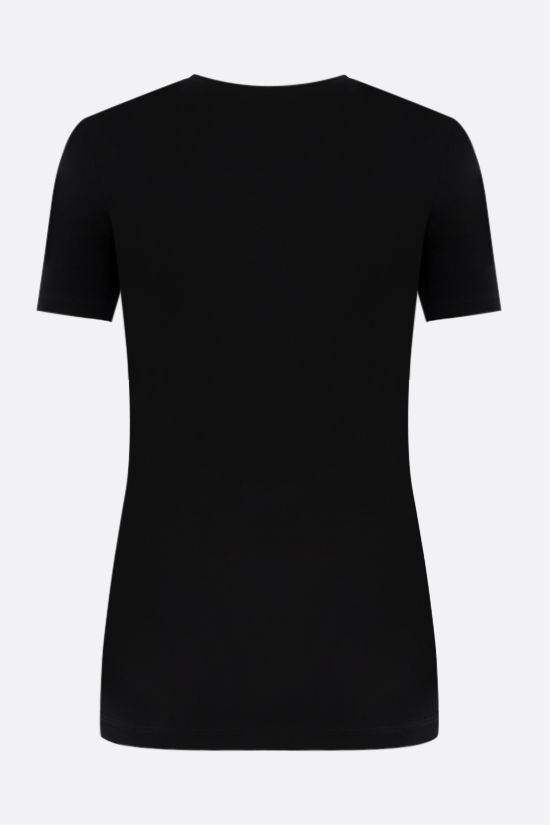 VERSACE: Medusa print jersey t-shirt Color Black_2