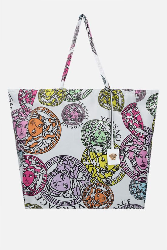 VERSACE: Medusa Amplified print nylon shopping bag Color Multicolor_1