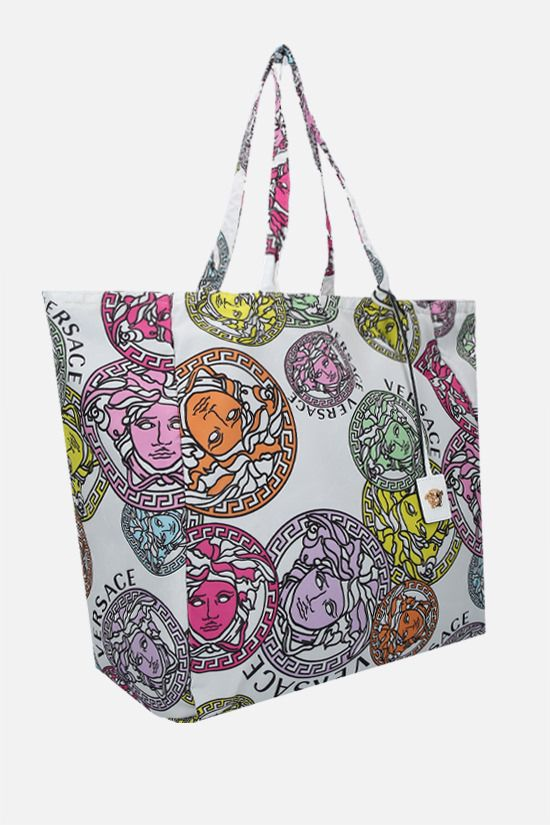 VERSACE: Medusa Amplified print nylon shopping bag Color Multicolor_2