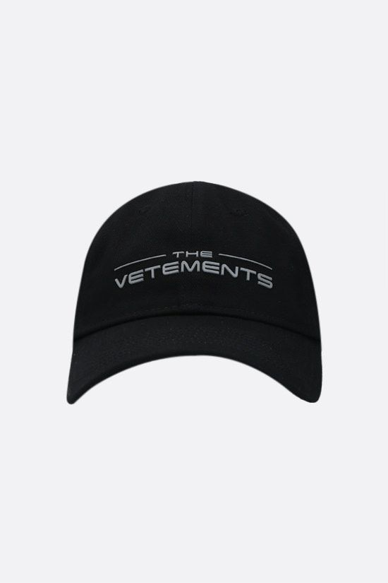 VETEMENTS: The Logo cotton baseball cap Color Black_1