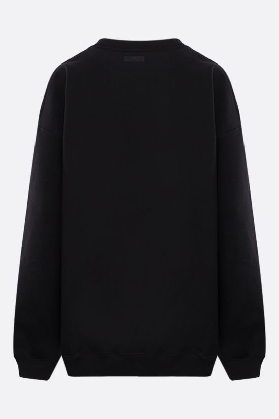 VETEMENTS: Think Differently oversize cotton blend sweatshirt Color Black_2