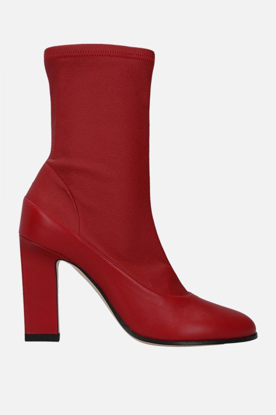 WANDLER: Lesly soft nappa ankle boots Color Red_1