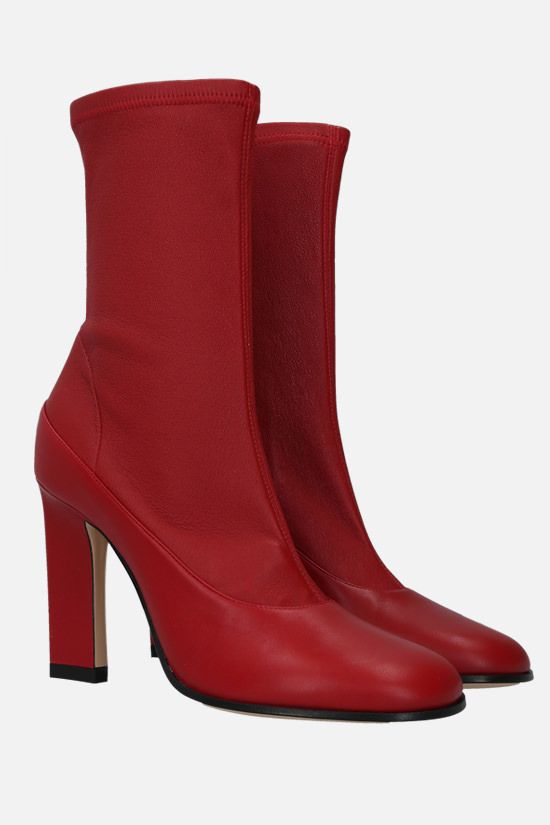 WANDLER: Lesly soft nappa ankle boots Color Red_2