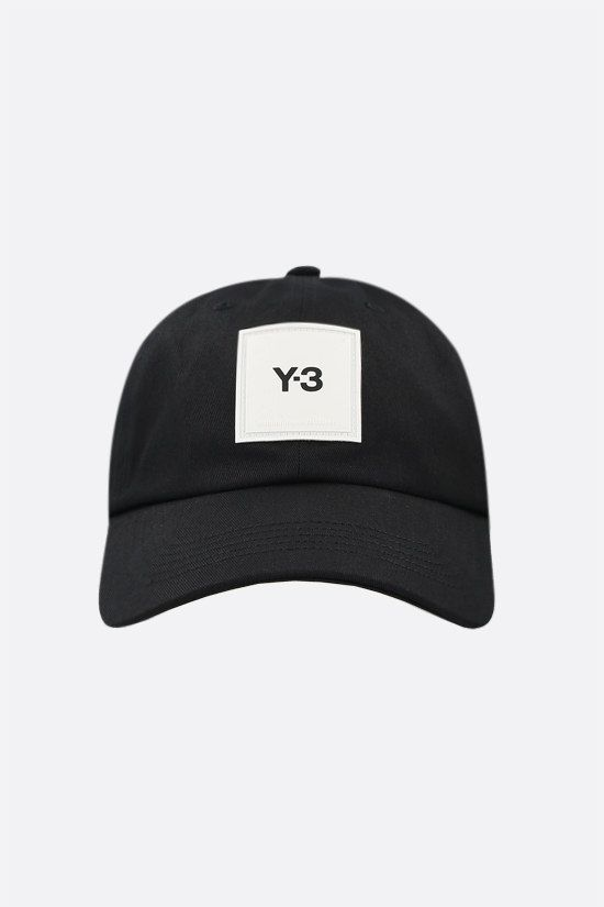 Y-3: Y-3 cotton baseball cap Color Black_1