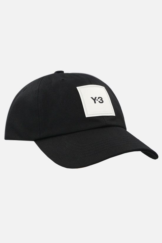 Y-3: Y-3 cotton baseball cap Color Black_2