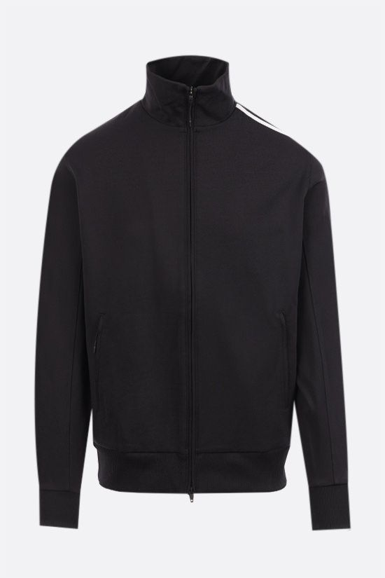 Y-3: 3-Stripes nylon track jacket Color Black_1