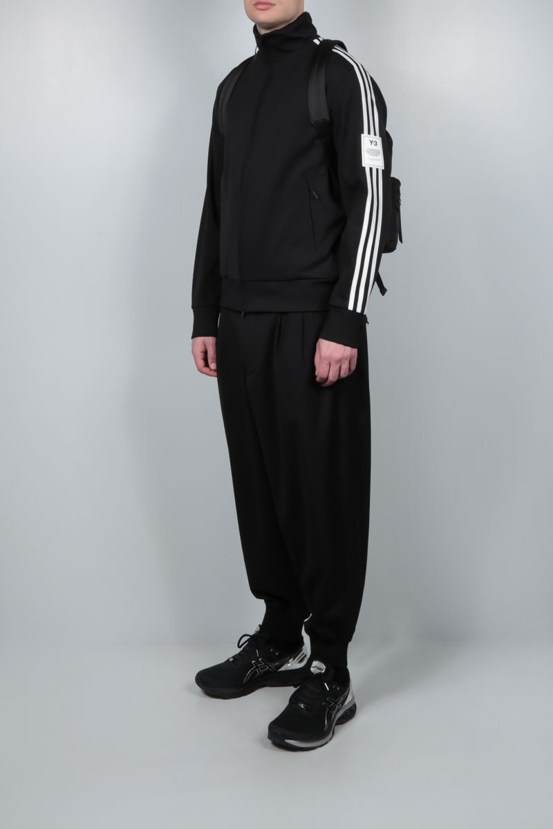 Y-3: 3-Stripes nylon track jacket Color Black_2