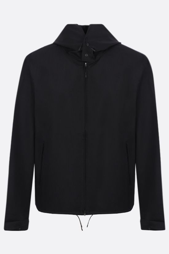 Y-3: Y-3 Classic Logo technical wool windbreaker Color Black_1