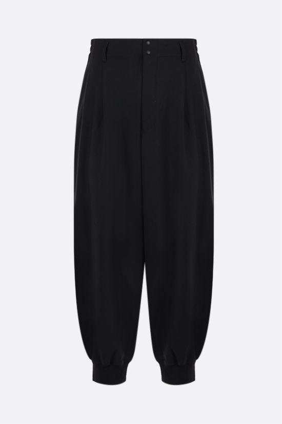Y-3: Y-3 Classic Logo technical wool joggers Color Black_1