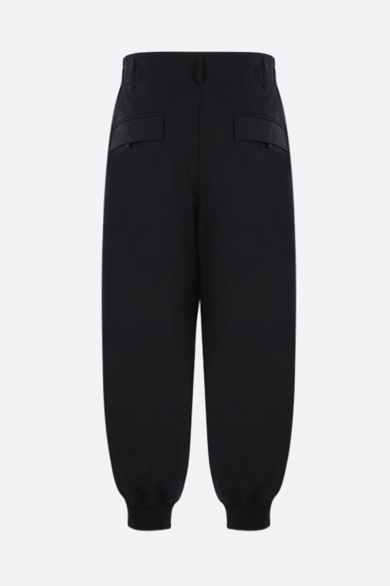 Y-3: Y-3 Classic Logo technical wool joggers Color Black_2