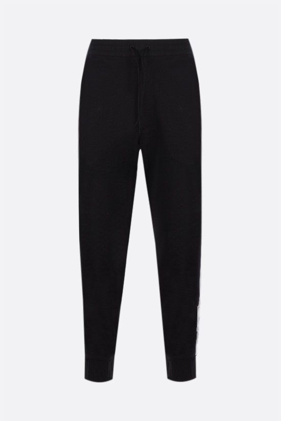 Y-3: 3-Stripes technical jersey joggers Color Black_1