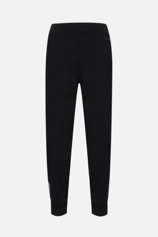 Y-3: 3-Stripes technical jersey joggers Color Black_2