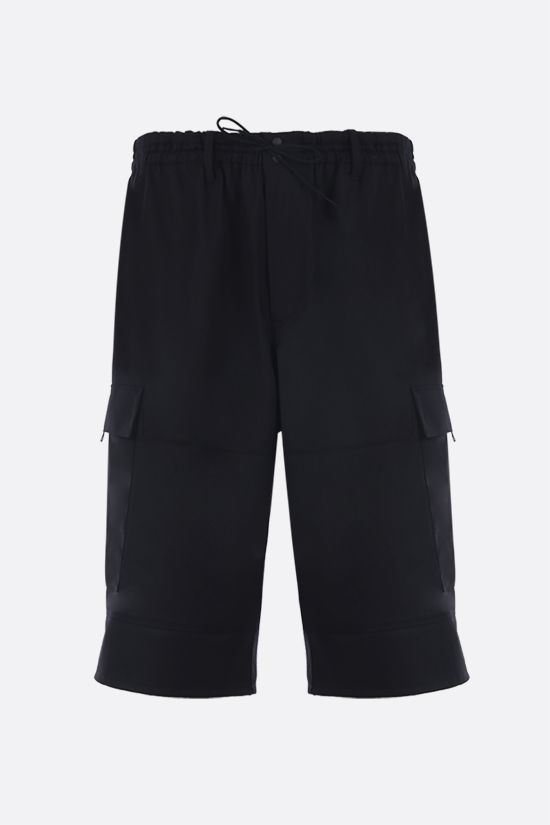 Y-3: Y-3 Classic Logo technical wool cargo shorts Color Black_1